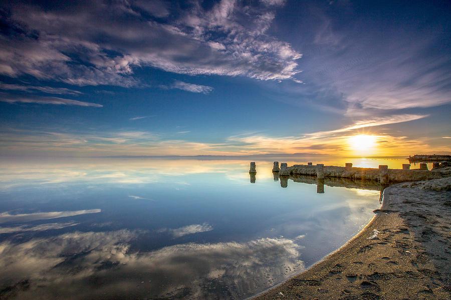 Salton Sea Photograph - Salton Sea Sunset At Bombay Beach by Robert  Aycock