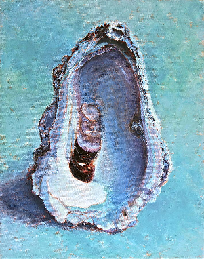 Oyster Painting - Salty by Pam Talley
