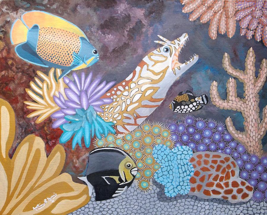 Ocean Painting - Salty Sea by Anthony Morris