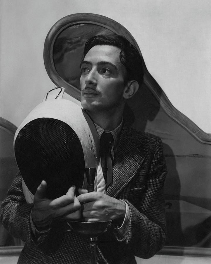 Salvador Dali Holding Fencing Equipment Photograph by Cecil Beaton