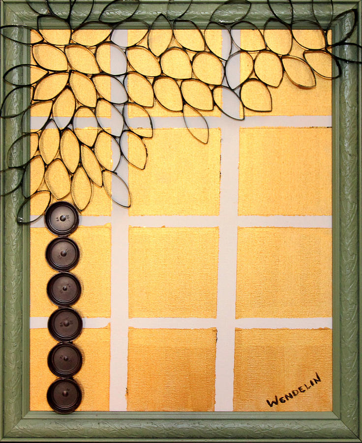 Abstract Relief - Salvaged Paper Or Plastic Tree 01 by Wendelin Dunlap