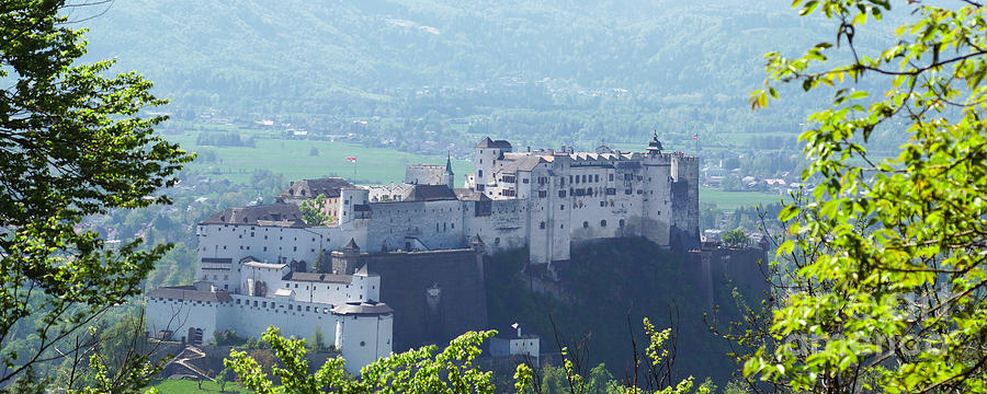 Europe Photograph - Salzburg Fortress Panorama by Rudi Prott