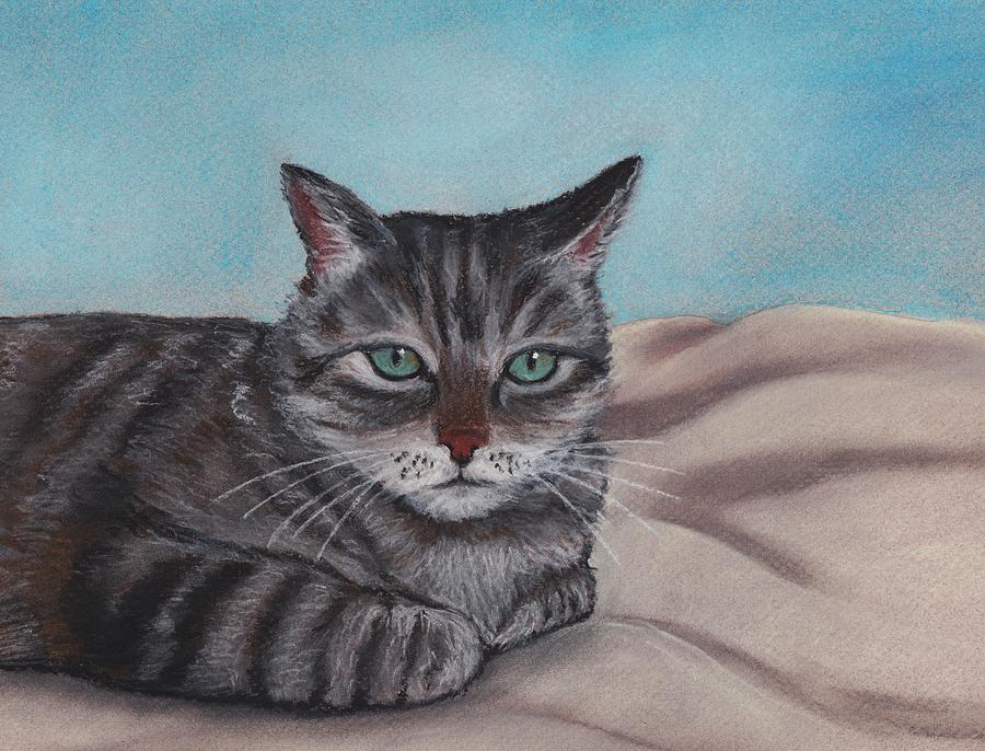 Cat Painting - Sam by Anastasiya Malakhova