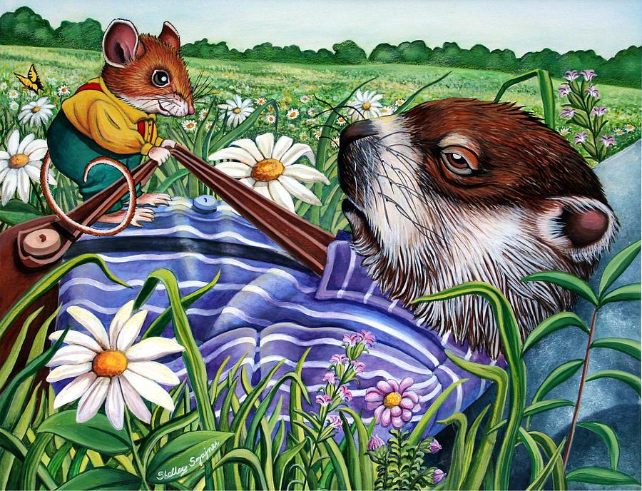 Woodland Animals Painting - Sam and Eddie by Shelley Shayner