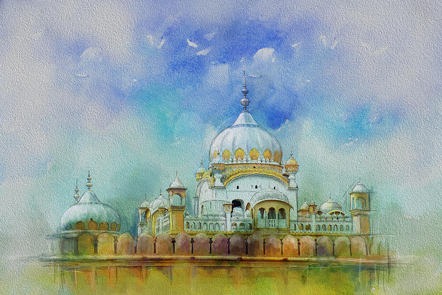 Pakistan Painting - Samadhi Ranjeet Singh by Catf