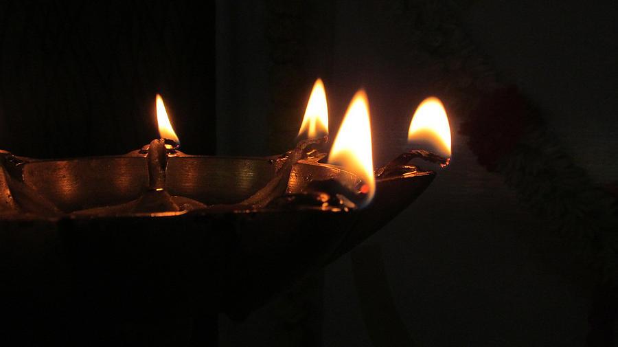Decorative Photograph - Samai Lamp by Vinayak Patukale