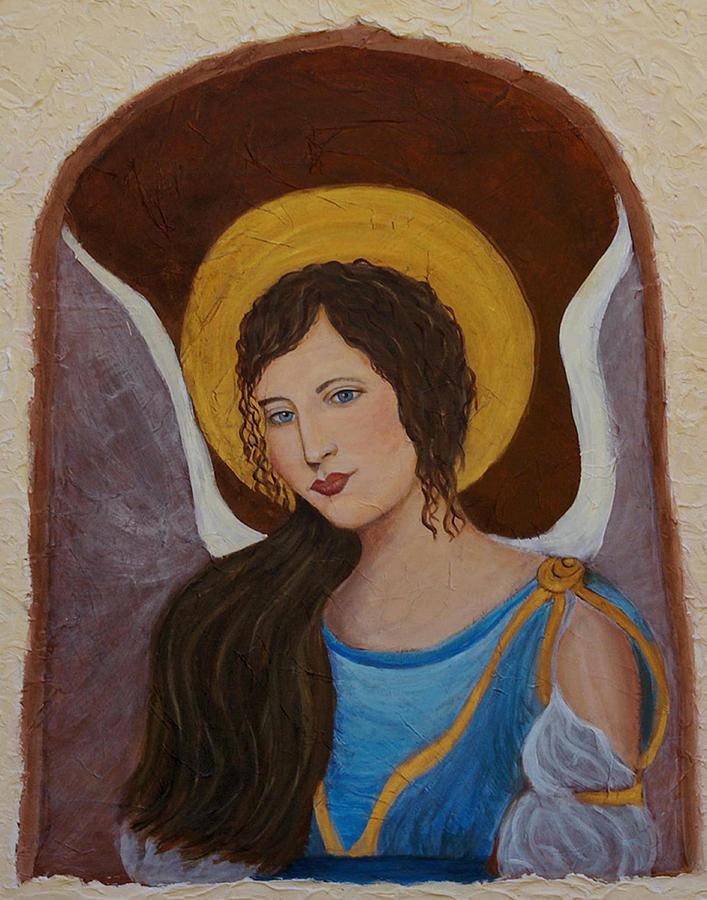 Angel Painting - Samantha An Earthangel by The Art With A Heart By Charlotte Phillips
