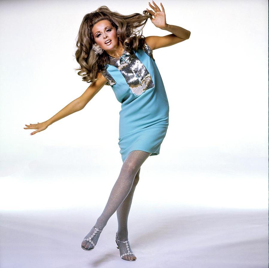Samantha Jones Wearing Matty Talmack Photograph by Bert Stern