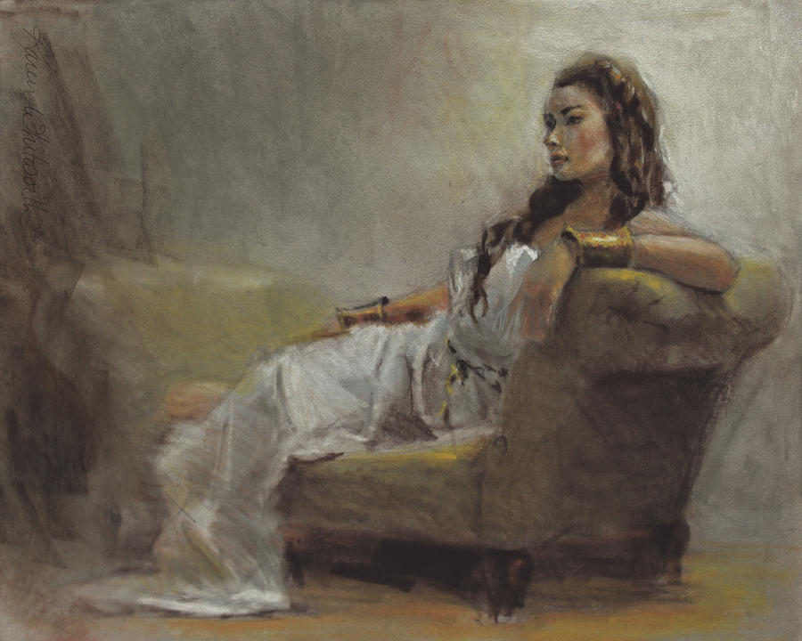 Figure Pastel - Samantha Painted From Life by Karen Whitworth