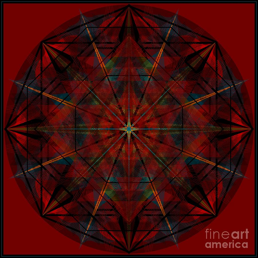 Mandala Digital Art - Samba 2013 by Kathryn Strick