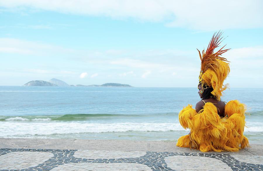 Samba Dancer In Ipanema Beach, Rio De Photograph by Emmanuel Aguirre