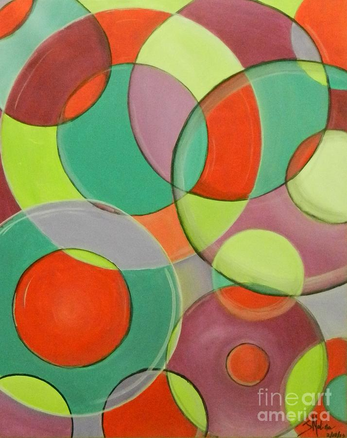 Abstract Painting - Same Shape Different Sizes by Juan Molina