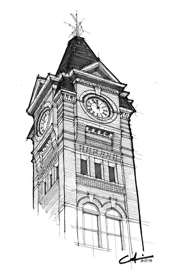Samford Hall Drawing By Calvin Durham