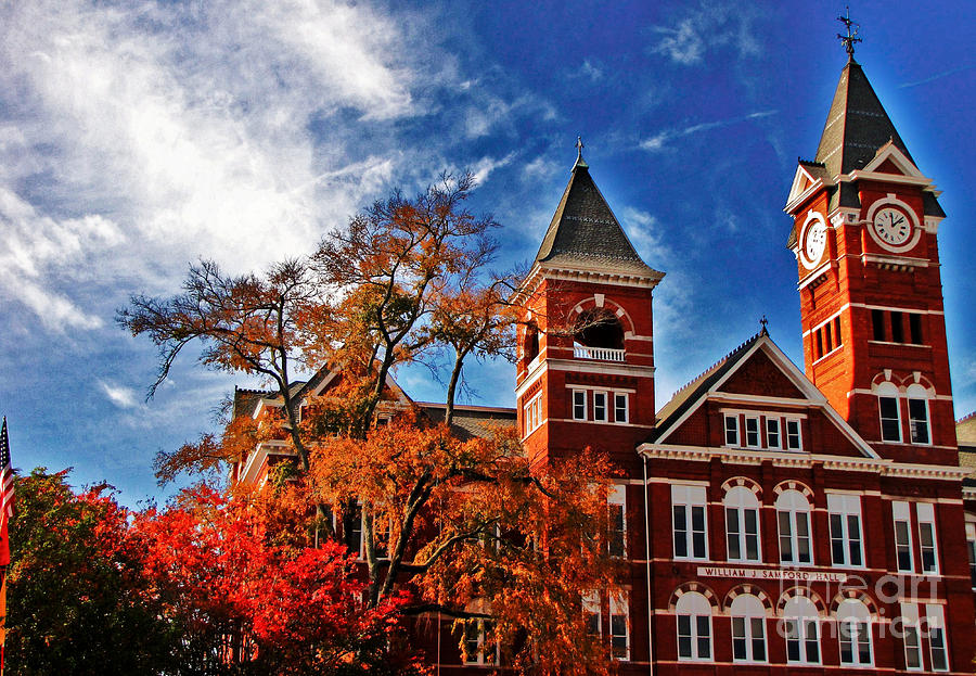 Auburn Photograph - Samford Hall in the Fall by Victoria Lawrence