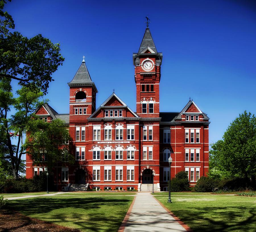 Auburn University Photograph - Samford Hall on the Campus of Auburn University by Mountain Dreams