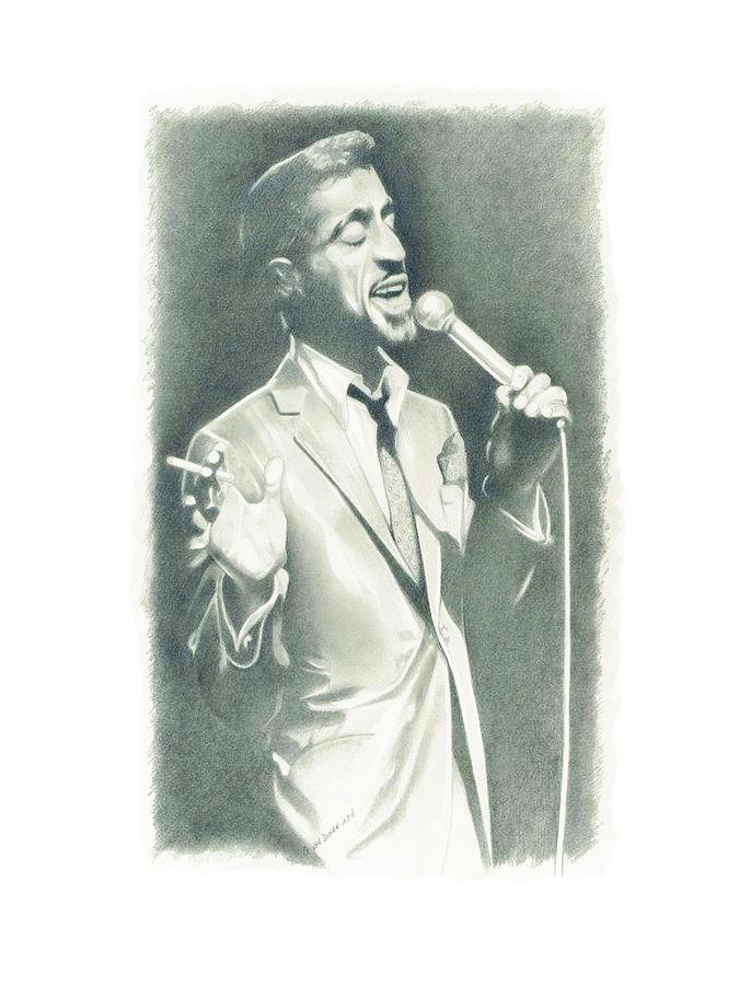Sammy Davis Jr Drawing - Sammy Davis Jr by Gordon Van Dusen