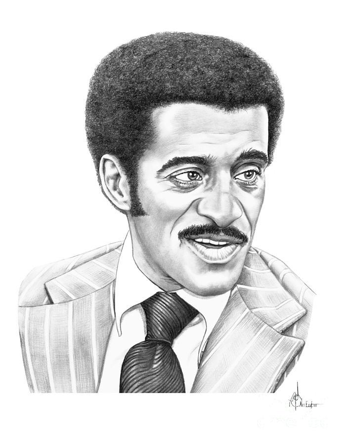 Pencil Drawing - Sammy Davis Jr by Murphy Elliott