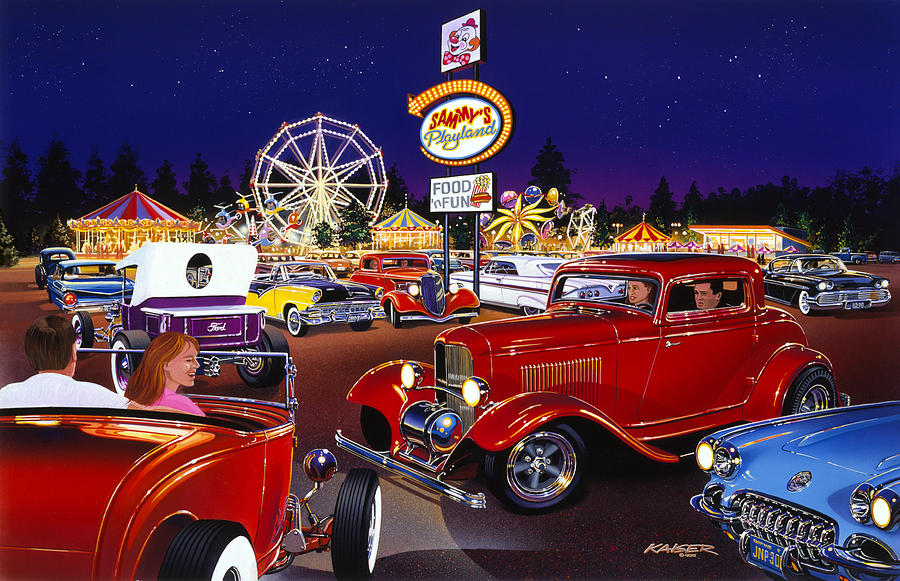 America Photograph - Sammys Playland by MGL Meiklejohn Graphics Licensing