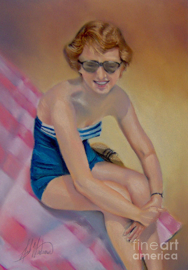 Soft Pastels Pastel - Sams Pin-up by Leah Wiedemer