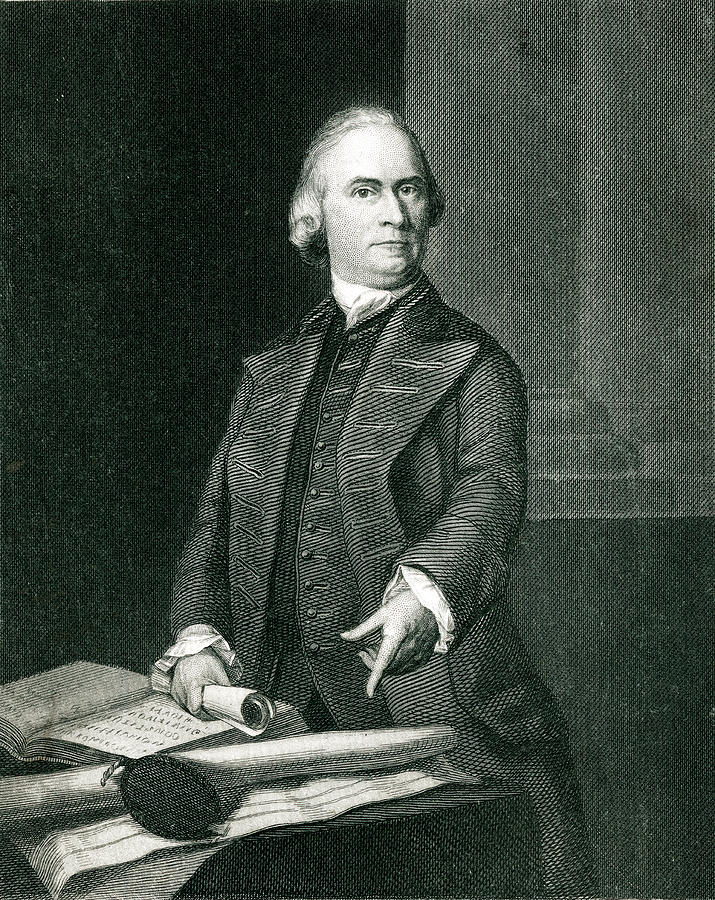 Samuel Drawing - Samuel Adams  American Revolutionary by Mary Evans Picture Library
