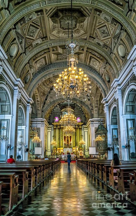 Catholic Photograph - San Agustin Church  by Adrian Evans