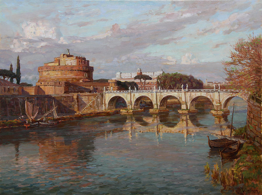 Landscape Painting - San-angelo Castle by Korobkin Anatoly