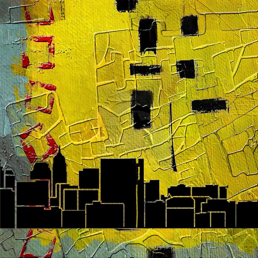 San Antonio Painting - San Antonio 002 C by Corporate Art Task Force