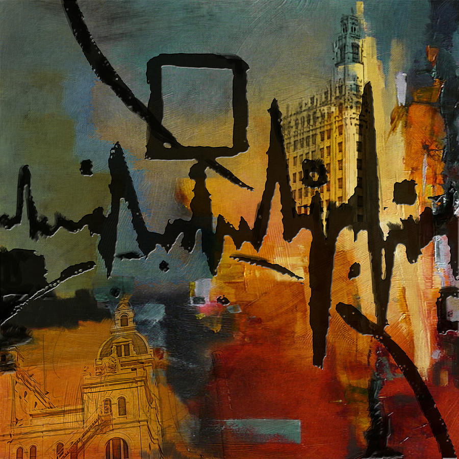 San Antonio Painting - San Antonio 003 C by Corporate Art Task Force