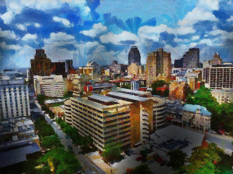 San Antonio Digital Art - San Antonio by Cary Shapiro