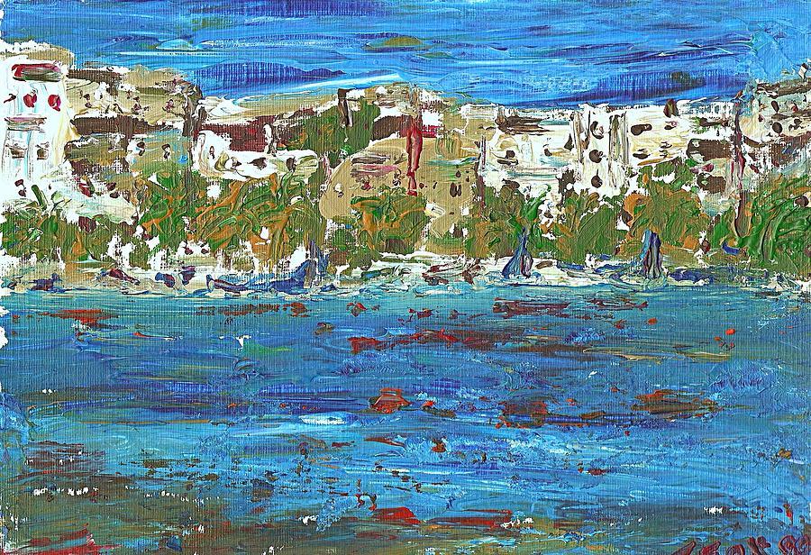 Blue Painting - San Antonio Ibiza by Anthony Fox