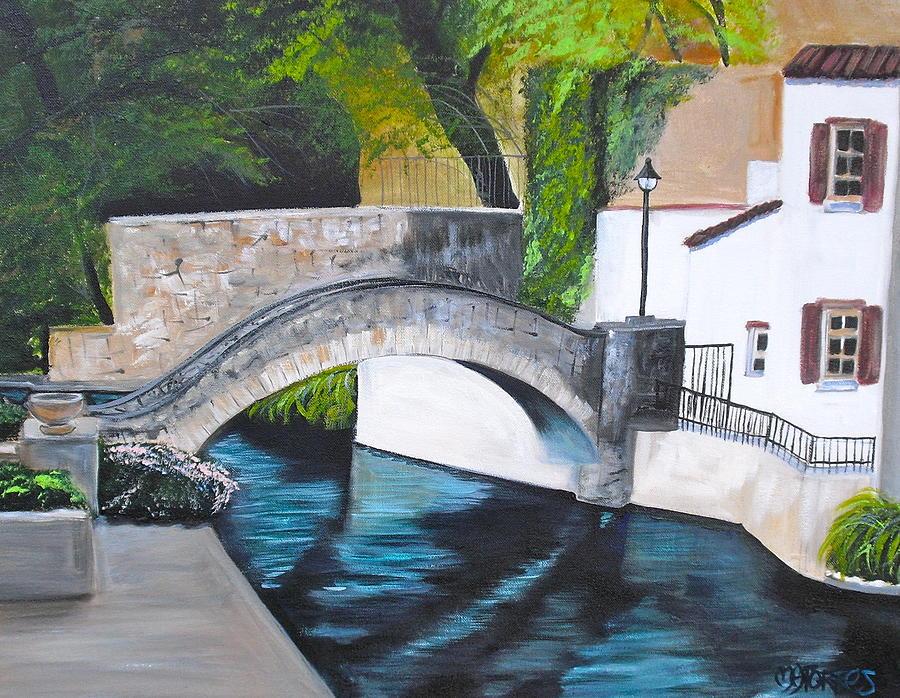 Scenery Painting - San Antonio River Walk by Melissa Torres