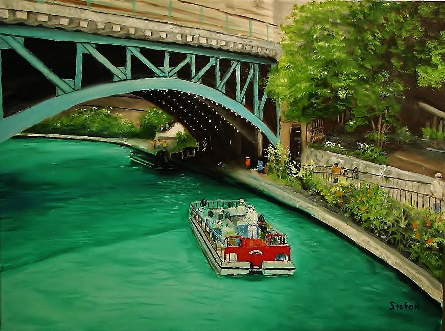 San Antonio Riverwalk Painting - San Antonio Riverwalk by Stefon Marc Brown