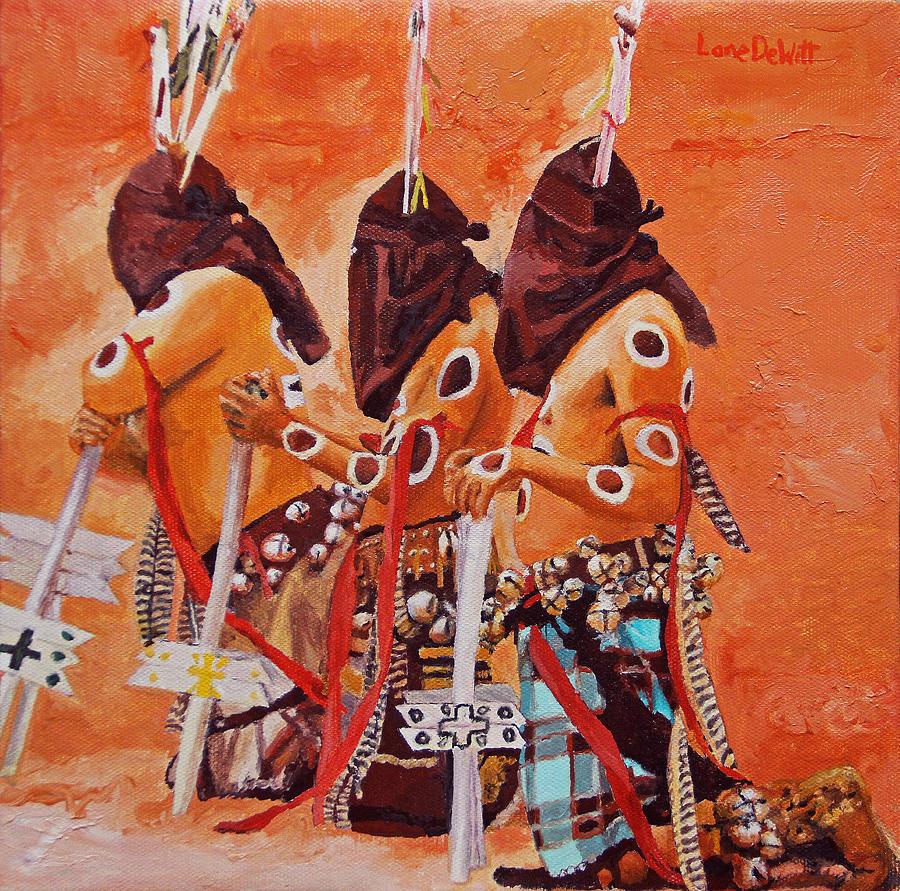Gaan Painting - San Carlos Apache by Lane DeWitt