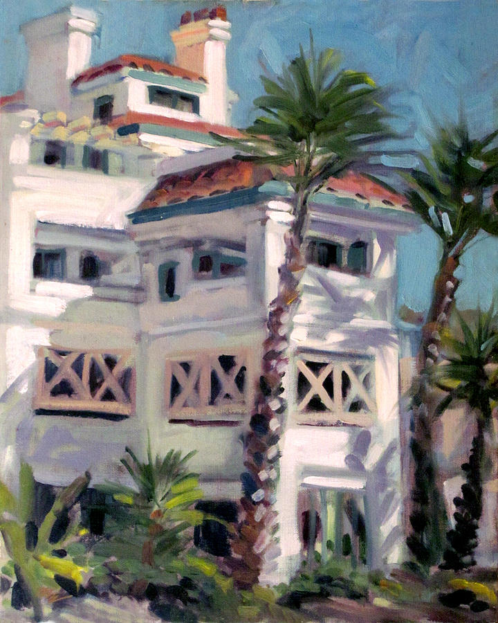 San Clemente Facade Painting by Mark Lunde