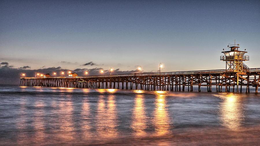 San Clemente Photograph - San Clemente Pier At Night by Richard Cheski