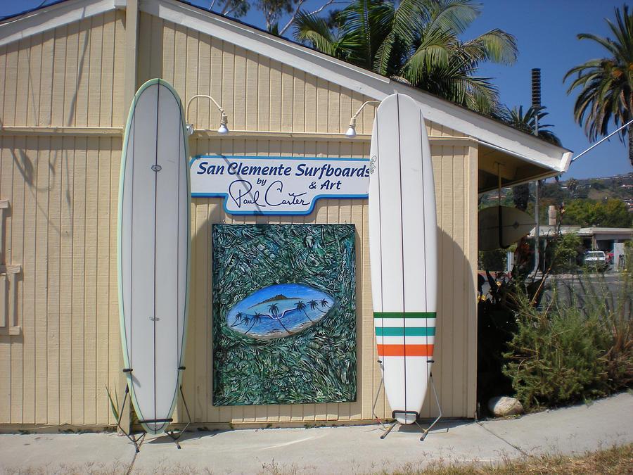San Clemente Surfboards Photograph by Paul Carter