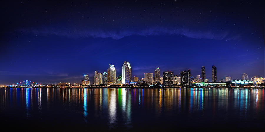 San Diego At Night Photograph By Jeana Childress