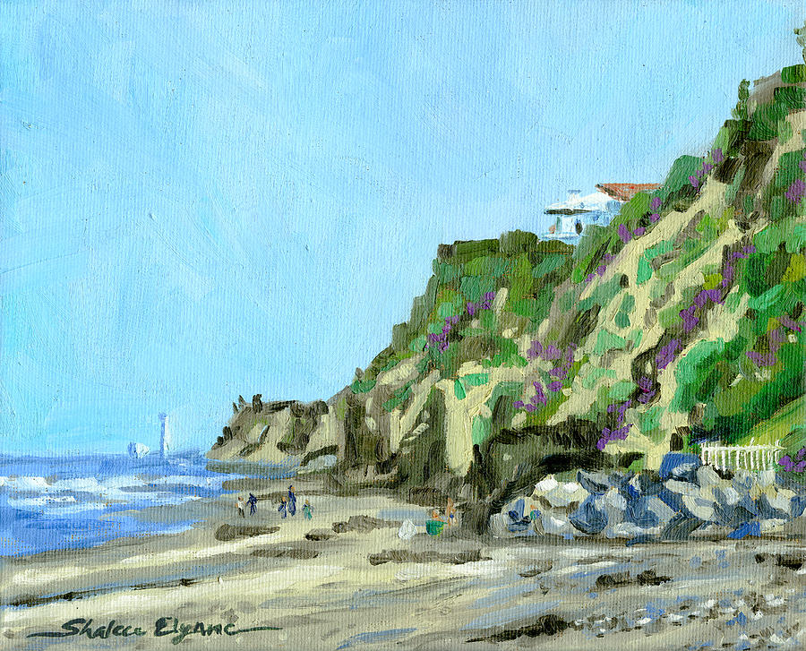 san diego beach house hill painting by shalece elynne