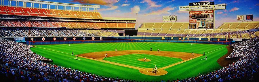 Jack Murphy Stadium Painting - San Diego Brilliance by Thomas  Kolendra