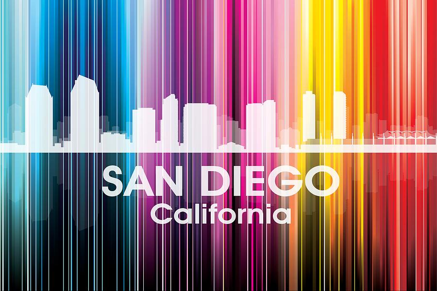 San Diego Ca 2 Mixed Media By Angelina Vick