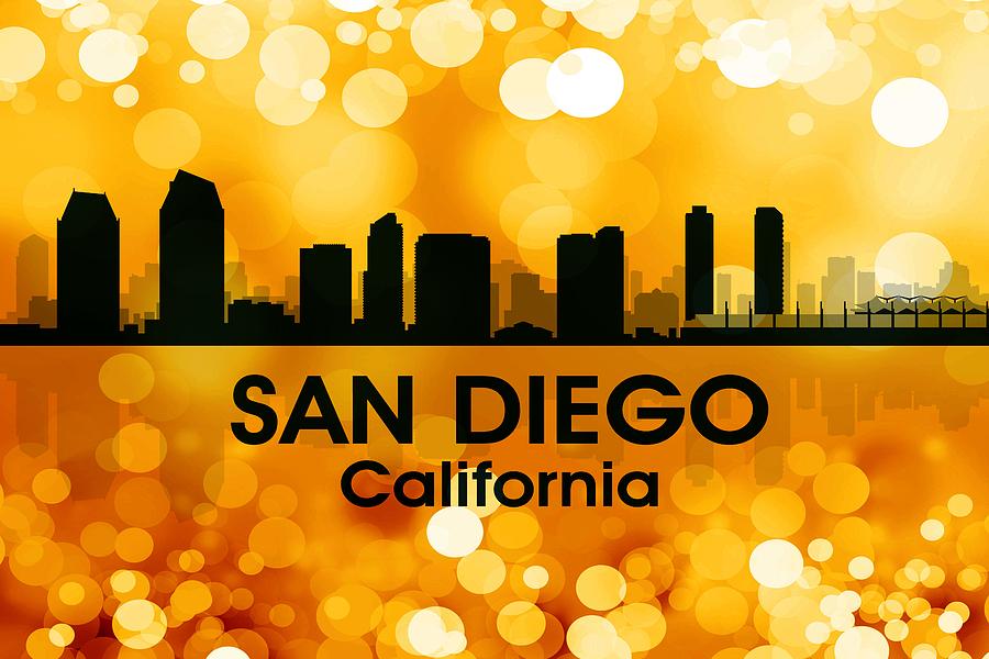 San Diego Ca 3 Mixed Media By Angelina Vick