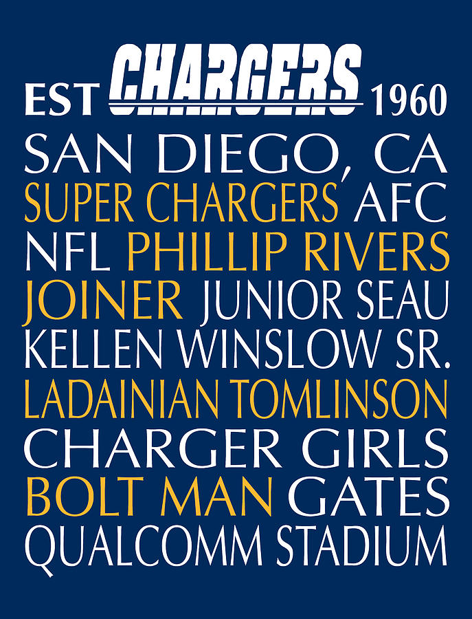 San Diego Chargers Digital Art By Jaime Friedman