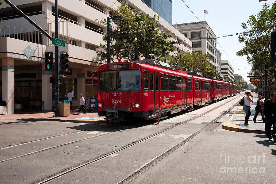 Train Photograph - San Diego Coaster by Russell Christie