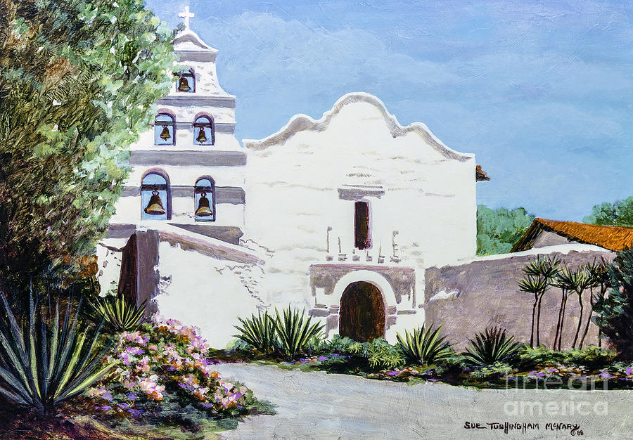 San Diego Mission De Alcala Painting By Glenn Mcnary