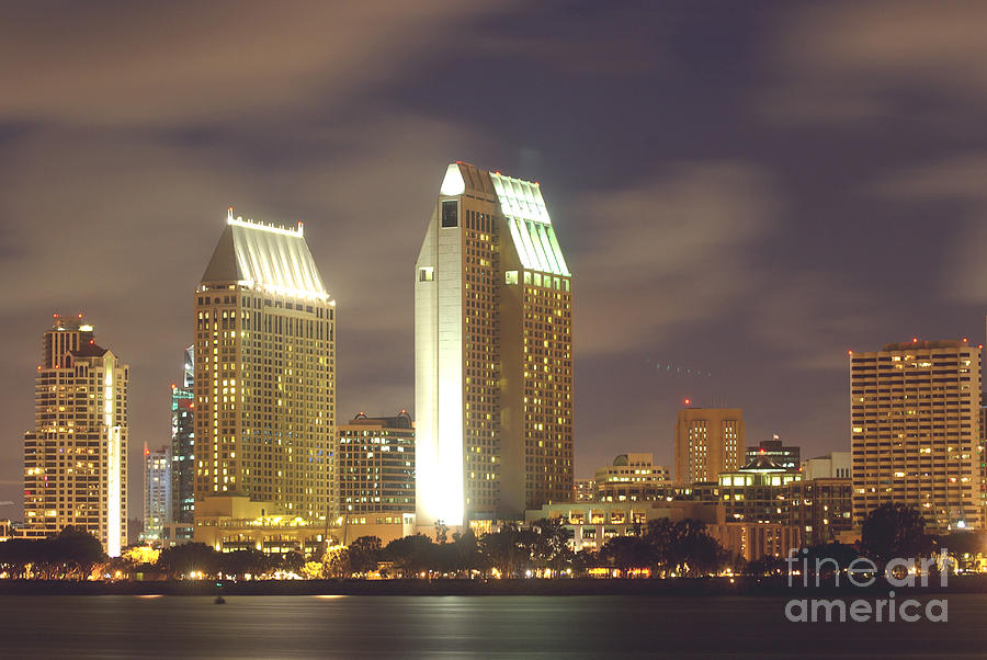 San Diego Nightscape  1-0635 Photograph by Stephen Parker