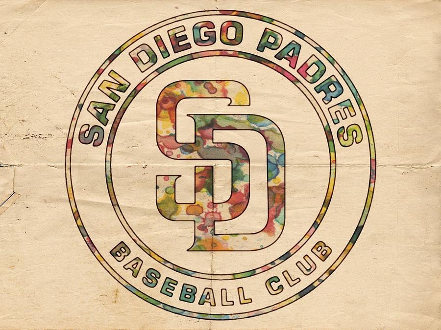 San Diego Padres Painting - San Diego Padres Logo Art by Florian Rodarte