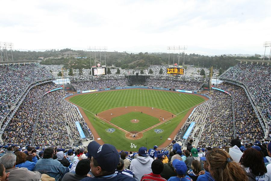 San Diego Padres v Los Angeles Dodgers Photograph by Rich Pilling