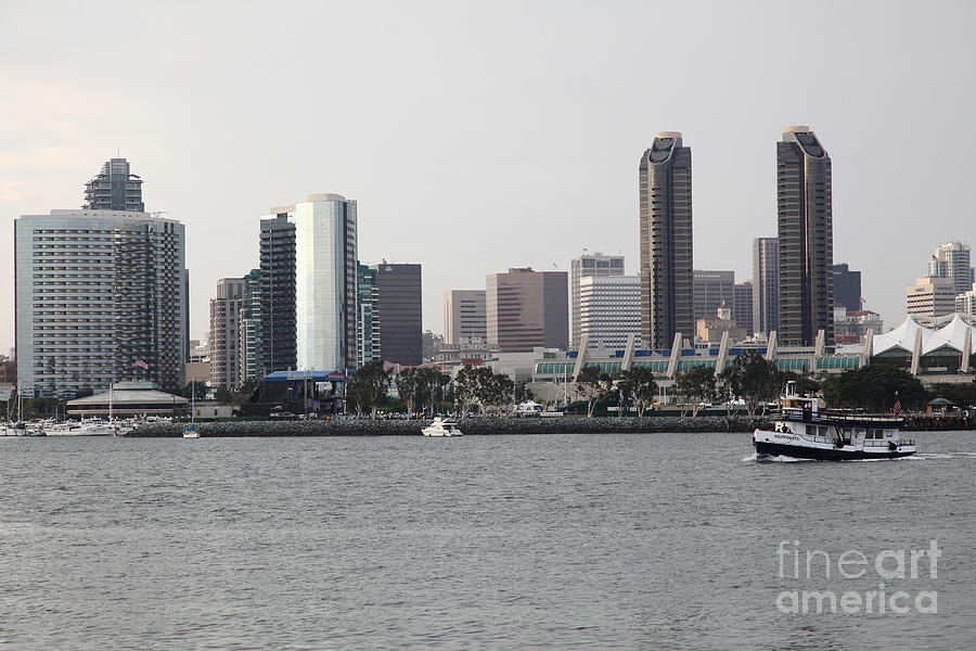 San Diego Photograph - San Diego Skyline 5d24380 by Wingsdomain Art and Photography