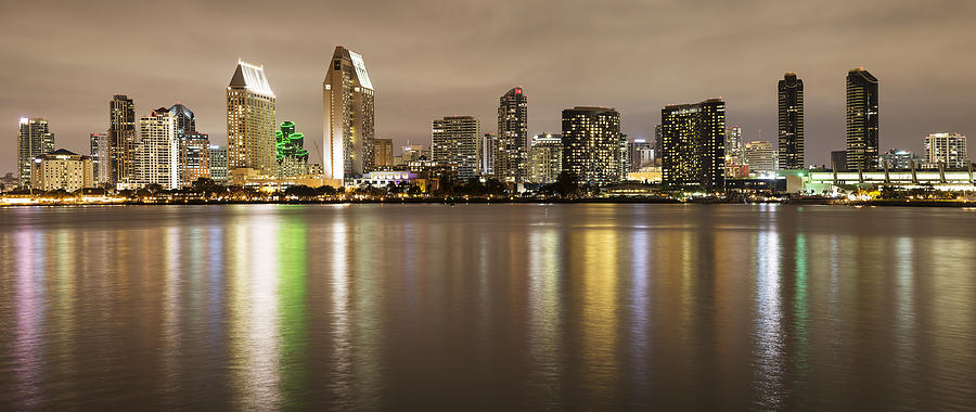 San Diego Skyline Panoramic 2 by Lee Kirchhevel