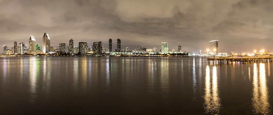 San Diego Skyline Panoramic 3 by Lee Kirchhevel